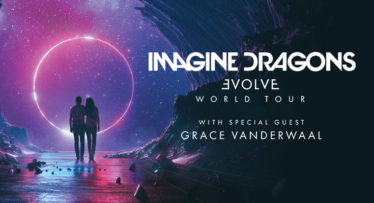 Imagine Dragons Evolve World Tour Flyer